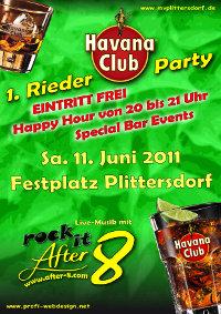 Party-Plakat für den Musikverein Plittersdorf