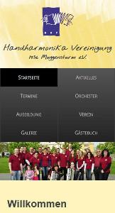 Smartphone-Ansicht von www.hhv-muggensturm.de